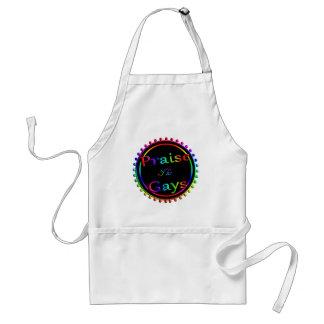 Praise the gays standard apron