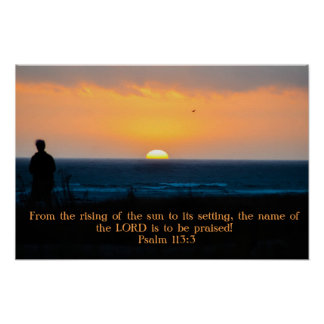 Praise the Lord at Sunset poster