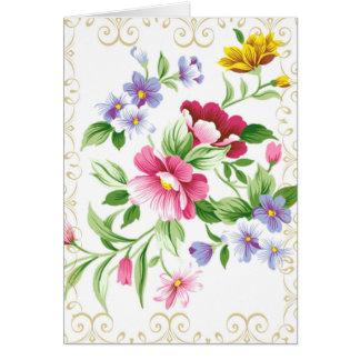 Praise the Lord Floral CUSTOMIZE Card
