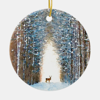 Prancer Ceramic Ornament