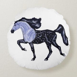 Prancing Arabian Horse Round Pillow
