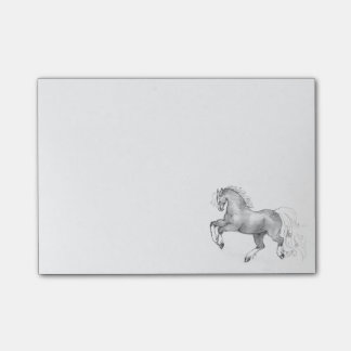 Prancing Dapple Gray Horse Post It Sticky Notes