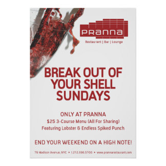 Pranna Sundays Lighter Red Poster