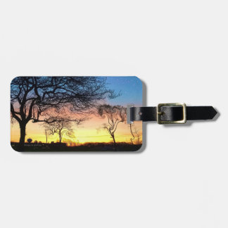 Prarie Sunset With Enchanted Trees Luggage Tag