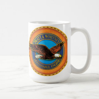 Pratt and whitney engines sign coffee mug