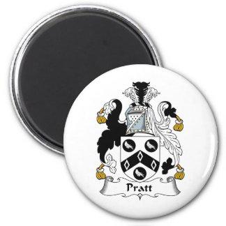 Pratt Family Crest 2 Inch Round Magnet