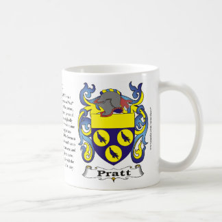 Pratt Family Crest including the History and Meani Coffee Mug