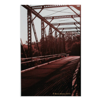 Pratt Truss Iron Bridge Poster