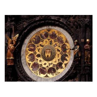 Prauge Clock Decoration Postcard