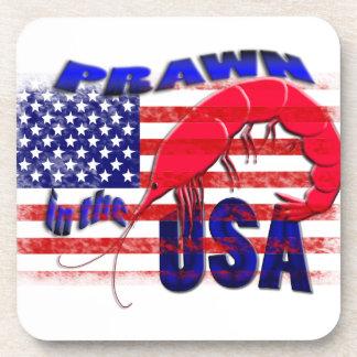 prawn in the usa coasters