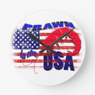 prawn in the usa round clock