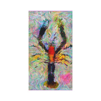 Prawn Painting - Wrapped Canvas