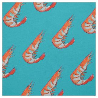 prawn / Shrimp seafood kitsch Fabric