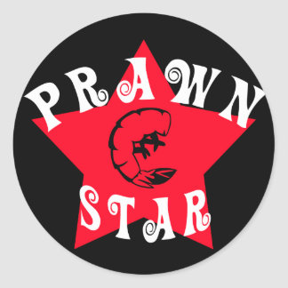Prawn Star Classic Round Sticker