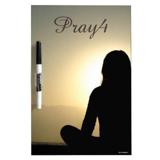 Pray4 Christian Prayer List Dry-Erase Whiteboard