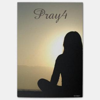 Pray4 Christian Prayer (use own photo) Post-it Notes