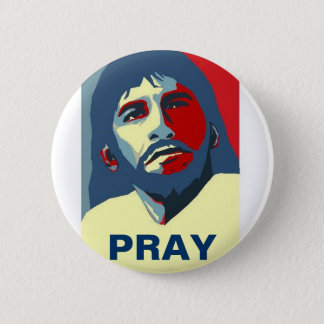 PRAY 2 INCH ROUND BUTTON