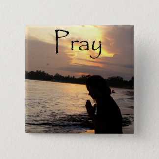 Pray 2 Inch Square Button