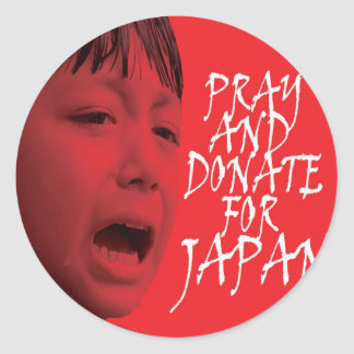 Pray and donate for Japan Round Sticker