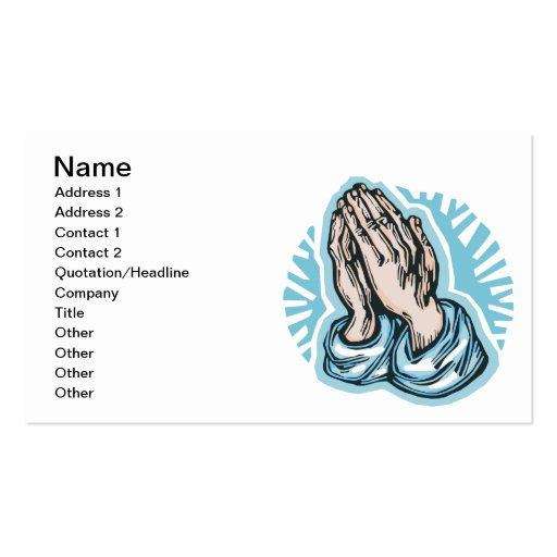 Pray Business Card Template