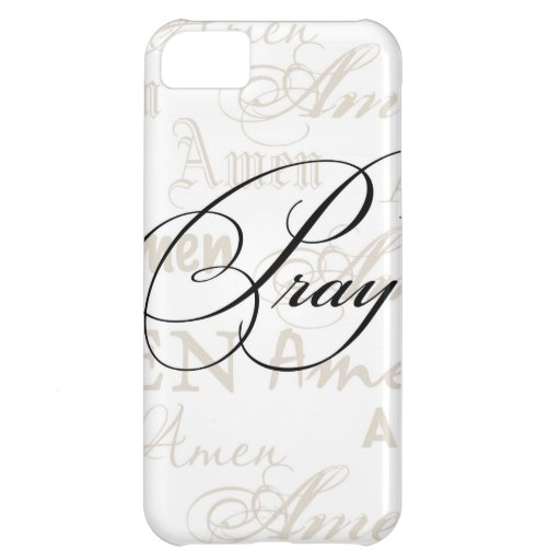 Pray Christian Quote by Enchanting Quotes Cover For iPhone 5C