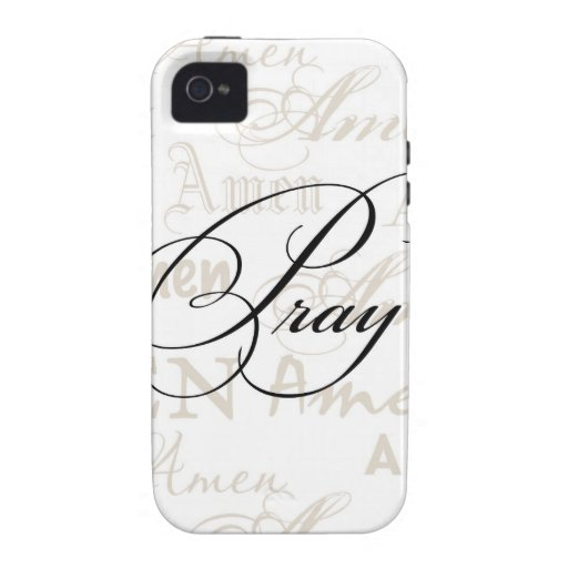 Pray Christian Quote by Enchanting Quotes iPhone 4/4S Cases