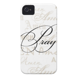 Pray Christian Quote by Enchanting Quotes iPhone 4 Case-Mate Cases