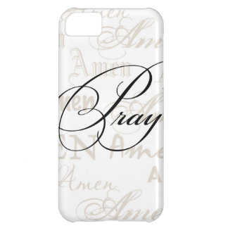 Pray Christian Quote by Enchanting Quotes iPhone 5C Case
