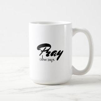 Pray Classic White Mug