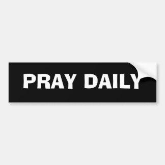 PRAY DAILY BUMPER STICKER