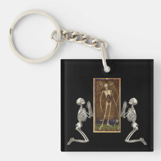 Pray Death Card Keychain