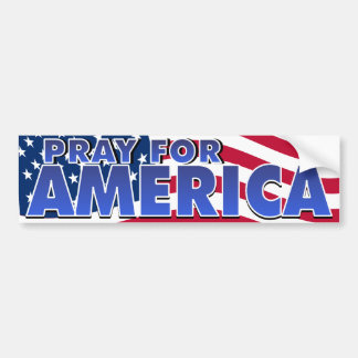 Pray for America 2 Bumper Sticker