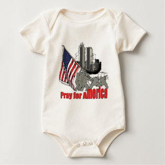 Pray for america baby bodysuit