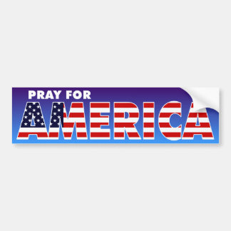 Pray for America Bumper Sticker