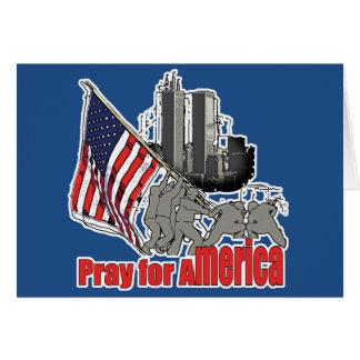 Pray for america card