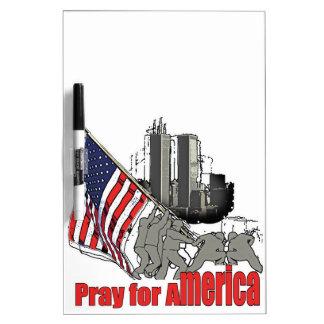 Pray for america dry erase board