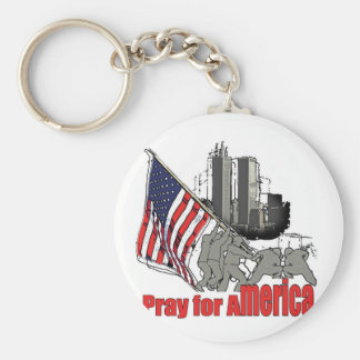 Pray for america keychain