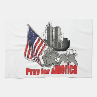 Pray for america kitchen towel