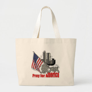 Pray for america large tote bag