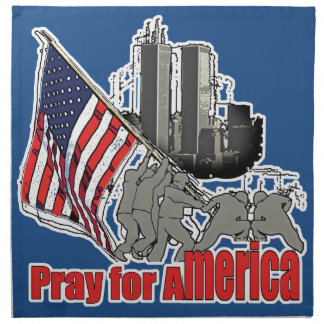 Pray for america napkin