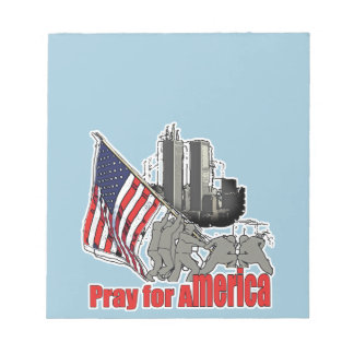 Pray for america notepad