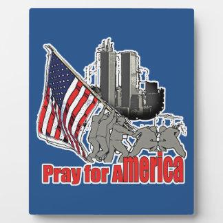 Pray for america plaque
