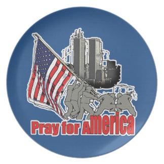 Pray for america plate