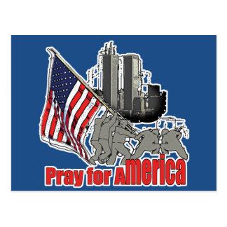 Pray for america postcard