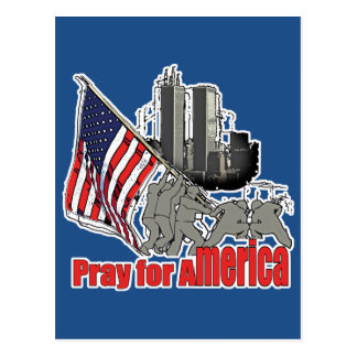 Pray for america postcard
