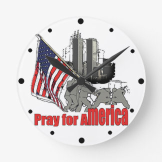 Pray for america round clock