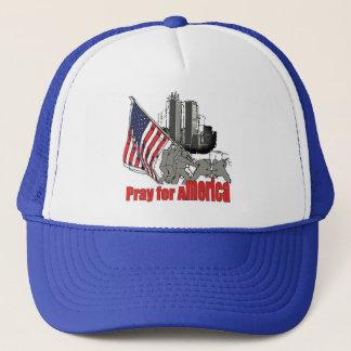 Pray for america trucker hat
