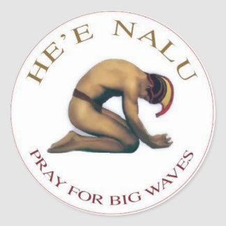 Pray For Big Waves Sticker