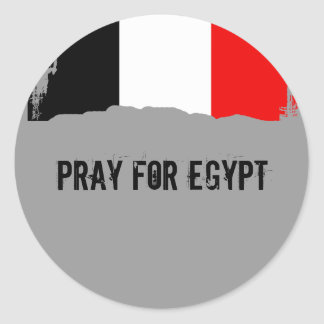 Pray for Egypt Classic Round Sticker