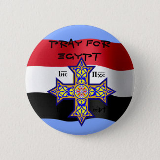 Pray for Egypt Coptic Cross - will donate proceeds 2 Inch Round Button
